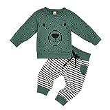 QXLhxuIo Baby Kleidung Set Baby Kleinkind Kinder Mädchen Jungen Kleidung Langarm Cartoon Bär...