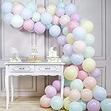 PartyWoo Luftballons Pastell, 100 Stück 10 Zoll Ballons Pastell in 10 Farben, Luftballons...