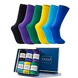 Vkele 6 Paar einfarbig Socken Geschenkpack Ideal als Weihnachtsgeschenke, bunt Herrensocken,...