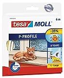 tesamoll Gummidichtung für Fenster und Türen, weiß, CLASSIC, P-Profil, 6m