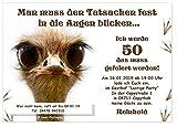 Einladungskarten für Erwachsene, JEDES Alter möglich, lustig und originell - runder Geburtstag 40...