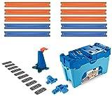 Hot Wheels FLK90 - Track Builder Stunt Builder Super Multi Looping Box, mit ca. 3 m Tracks inkl....