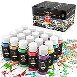 ARTEZA Outdoor Acrylfarbe | Set mit 20 Farben/Tuben (59 ml) mit Box | Reichhaltige Pigmente |...