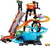 Hot Wheels FTB67 - City Ultimative Autowaschanlage mit Krokodil, Waschstation Spielset mit Farbwechseleffekt inkl. 1 Spielzeugauto und Alligator, Kinder Spielzeug ab 4 Jahren