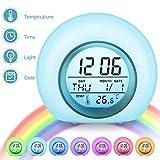 Charminer LED Kinderwecker, Wake Up-Wecker 7 Farbwechsel Ändern Lichtwecker, 5 natürliche Klänge...