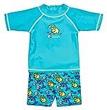 Landora Baby- / Kleinkinder-Badebekleidung 2er Set mit UV-Schutz 50+ und Oeko-Tex 100 Zertifizierung in türkis; Größe 86/92