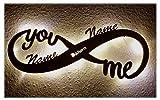 Schlummerlicht24 Led Unendlichkeitszeichen mit Namen Liebe Liebesbeweise zur Hochzeit Verlobung...