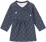 Noppies Baby-Mädchen G Dress ls Nevada-67364 Kleid, Blau (Navy C166), 74