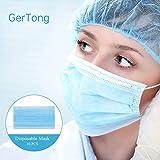 GerTong 10 Stück Einweg OP-Maske Gesichtsmaske 3-lagig Mundschutz Staubschutz Infektionsschutz...