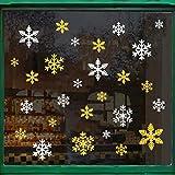 Naler 96 Schneeflocken Fensterbild Abnehmbare Fensterdeko Statisch Haftende PVC Aufkleber Winter...