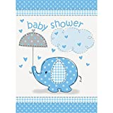 Unique Party Supplies Einladungen für Babyparty, Aufschrift Baby Shower, Blauer Elefant, 8Stück