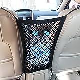 MICTUNING Universal KFZ Auto Netz Schutznetz Organizer mit Halter für Beutel Kinder Spielzeug...