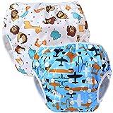 Teamoy 2-teilig Baby Schwimmhose Badewindelhose Badehose (Aircraft+ Fat Smile)