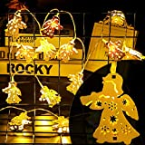 2,2M 20er LED Lichterketten Innen mit Batterie Warmweiß Engel, Deko Weihnachtsbeleuchtung...
