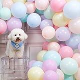 PuTwo Luftballons Pastell, 100 Stück Helium Luftballons Satz von Ballon Pastell in 10 Farben...