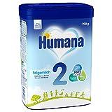 Humana Folgemilch 2, Babynahrung im Anschluss an das Stillen, mit Vitamin A, C & D, ohne Stärke,...