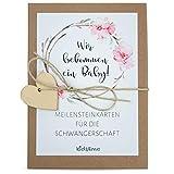 kids&me NEU! 29 Meilensteinkarten für die Schwangerschaft 'Liebe im Bauch' - Fotokarten für den...