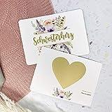 Karte Willst du meine Trauzeugin sein, Rubbelkarte, Hochzeit, Trauzeugin fragen, Personalisierte...