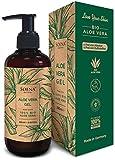Aloe Vera Gel mit 100% Bio Aloe Vera | Frei von Alkohol & Parfüm | NATURKOSMETIK | Tierversuchsfrei...
