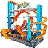 Hot Wheels FTB69 - City Ultimate Parkgarage und Parkhaus für Kinder, Garage mit Hai für +90 Autos,...