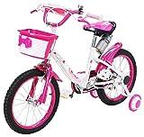 Actionbikes Kinderfahrrad Daisy - 16 Zoll – V-Break Bremse vorne - Stützräder - Luftbereifung -...