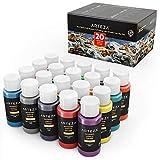 Arteza Outdoor Acrylfarbe, Set mit 20 Farben/Tuben (59 ml) mit Box, reichhaltige Pigmente,...