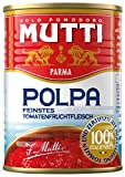 Mutti Polpa Fine - Tomatenfruchtfleisch, fein gehackt, 6er Pack (6 x 400 g)