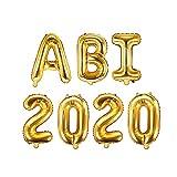 XXL Folien-Ballons ABI 2020 gold Buchstaben-Balloon-Girlande Luft-Ballons Schriftzug Höhe 35cm...