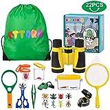 UTTORA Draussen Forscherset Spielzeug, Kinder fernglas 22 Stück Kids Adventurer Explorer Set mit...