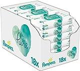 Pampers Aqua Pure Feuchttücher, 18Packungen(18 x 48 Stück)