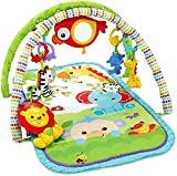Fisher-Price CHP85 - Rainforest-Freunde 3-in-1 Spieldecke, tragbare Baby Krabbeldecke inkl....