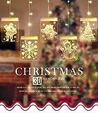 Lypumso LED USB Lichtervorhang,LED Lichterkette 5 Lichter mit Weihnachtsmotiven, Innen- und...