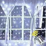 LED Lichtvorhang 3x3m 304 LEDs Ollny USB Lichterkette mit Fernbedienung & Timer 8 Modi für...