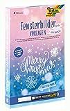 folia 39129 - Fensterbilder Vorlagen für die kalte Jahreszeit, inkl. 8 Malvorlagen und 1...