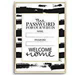 Tales by Jen Kunstdruck, Sprüche Poster: Welcome Home - Wifi Password | Stilvolles Premium Poster...