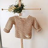 Baby Pullover hangestickt,Bambus,Größenwahl,Farbwahl