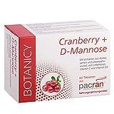 CRANBERRY + D-MANNOSE, Tabletten für Harnwege und Blase, enthält Vitamin C und D, Kürbissamen-...
