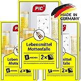 PIC Lebensmittel-Mottenfalle - Dreierpack = 6 Stück - Mittel zur Bekämpfung und Schutz vor Motten...