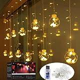Lichtervorhang, LED Lichterkette mit Fernbedienung, Usb Lichterkette, Weihnacht und...