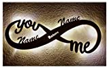 Led Unendlichkeitszeichen mit Namen Liebe Liebesbeweise zur Hochzeit Verlobung Jahrestag...