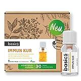 basics IMMUN KUR Monatskur, 30 x 10ml Fläschchen - Immunsystem stärken 15x Vitamin Komplex...