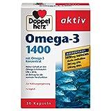 Doppelherz Omega-3 1400 mg – Nahrungsergänzungsmittel mit hochdosiertem Omega-3-Konzentrat plus...