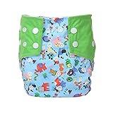 Letech® Stoffwindeln Babywindeln Waschbar Windel Größe Verstellbar (Grün)