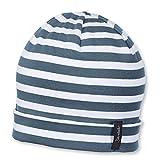 Sterntaler Unisex Slouch-Beanie mit Streifenmotiv, Alter: ab 6-9 Monate, Größe: 45, Graublau