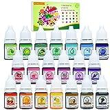 Seifenfarbe Set 20er x 6ml - Flüssig Seifenfarben Färbende Hautverträgliche Farbe Pigment für...