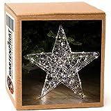 Weihnachtsstern 28 cm 60 LED Draht-Stern Weihnachten blinkend