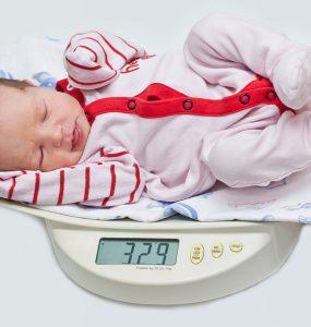 Das Gewicht beim Baby