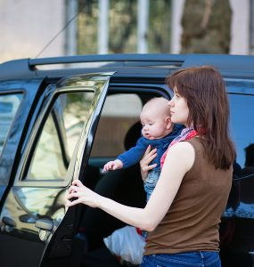 Autoaufkleber mit Baby-Spruch